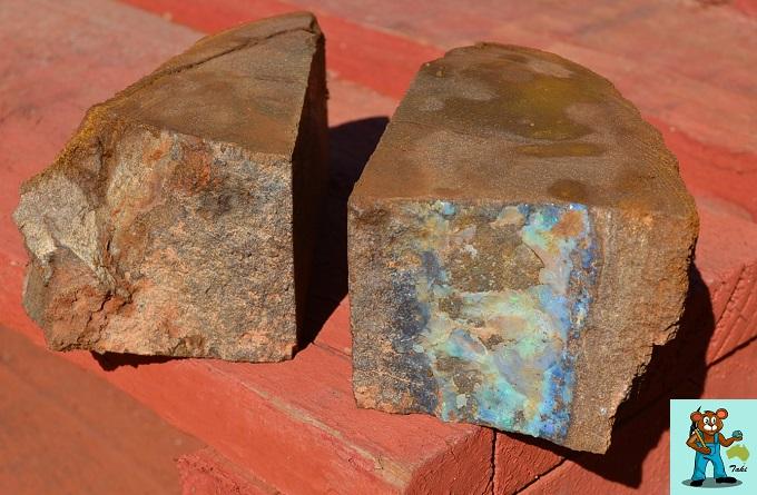 ボルダーオパール原石 ソーイング後