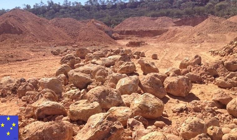 ボルダーオパールの目利き-鉱山の様子