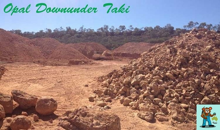 ボルダーオパール鉱山の様子