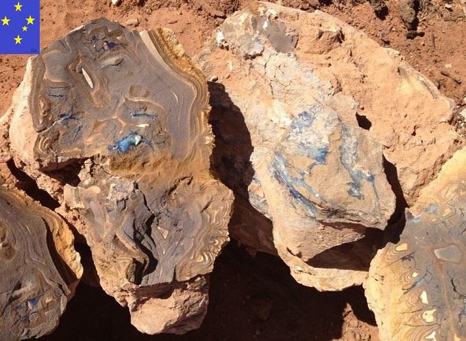 ボルダーオパール鉱山ポッチ